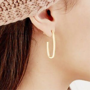 5 for $25 Gold Color Minimalist U Shape Hoops